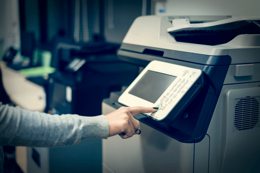 Creating content on a photocopier