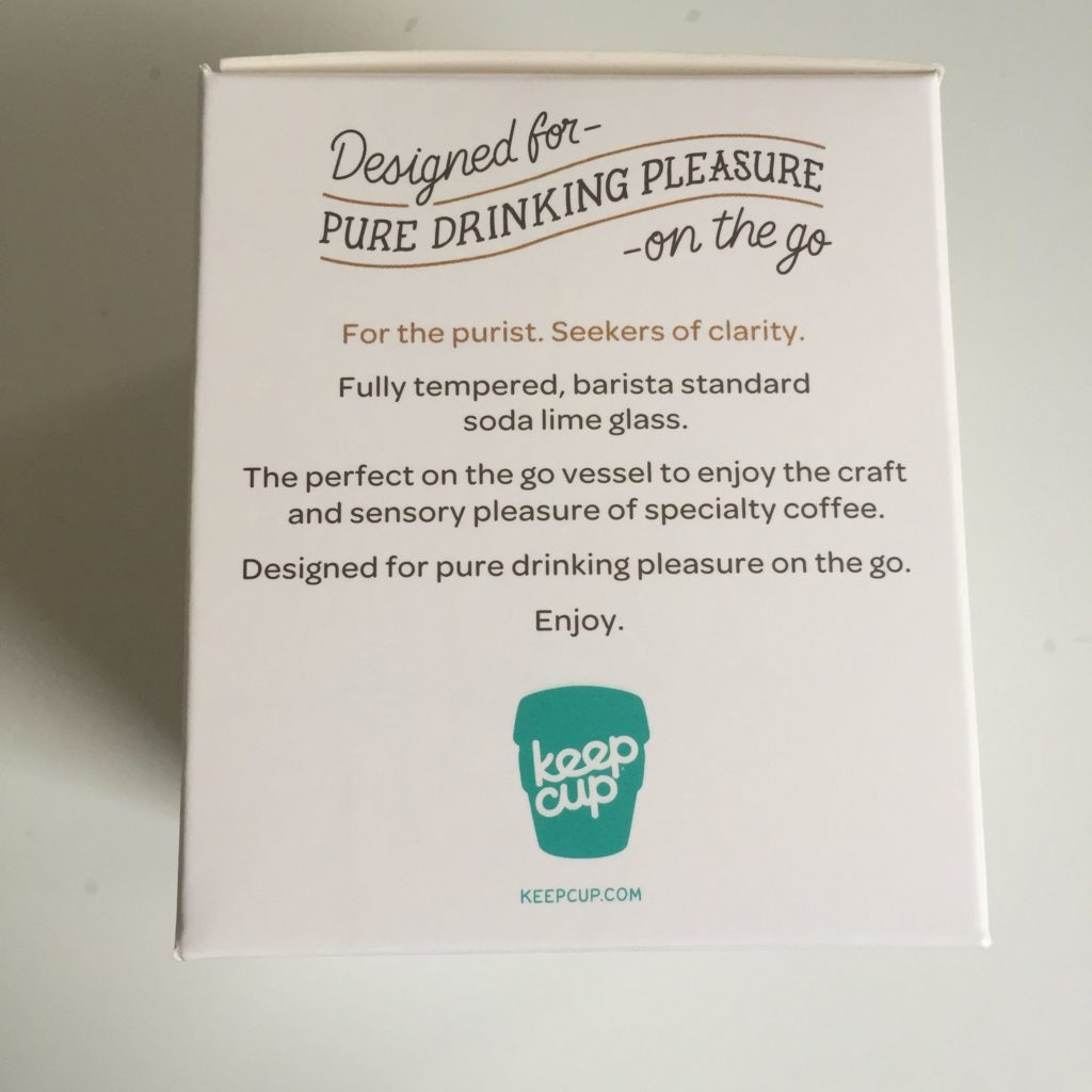 KeepCup packaging