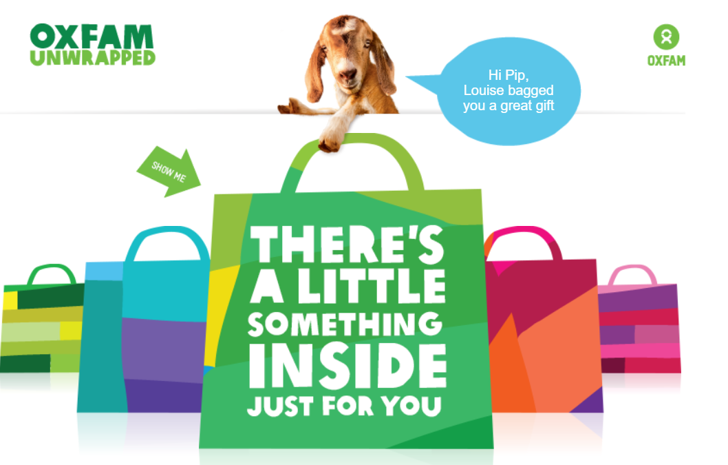 Marvellous Marketing Spotters' Guide: Oxfam Unwrapped